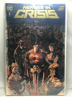 Heroes In Crisis #1 Gold FOIL Exclusive Clay Mann Variant Boutique Edition NM
