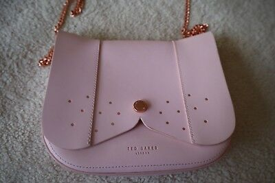 12fe77ed3f6e Ted Baker London Leather Crossbody Bag Pink Rose Gold Accents  Rose Gold  Chain