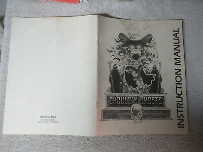 DIRTY GHOULS AND GHOSTS  CAPCOM   arcade game manual