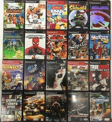 Playstation 2 PS2 - 20 Random games - Madden, Racing, Shooter, Action, Fighting