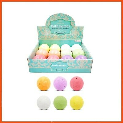 12 x BATH BOMBS WITH DISPLAY BOX | Bath & Body Products Beauty Relaxation Gift