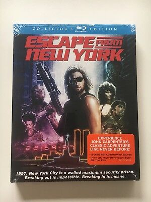 Escape From New York (2 Disc Blu-ray, Region A) w/ Slipcase New & Sealed!