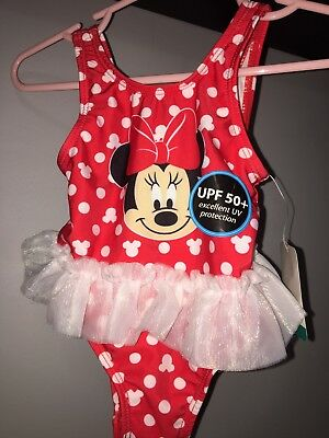 f93a3b60c NEW NWT Girls Size 3-6 Months Minnie Mouse Tutu 1 Pc Swimsuit Bathing Suit