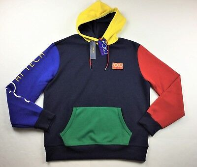 e7c19f1b14356 Polo Ralph Lauren Men Hi Tech Color-Blocked Hoodie Sweatshirt Snow Beach CP  93
