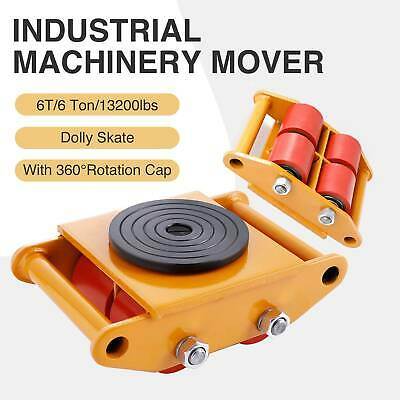 Industrial Machinery Mover with 360°Rotation Cap 13200lbs 6T