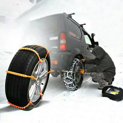 10 PCS Snow Tire Chain for Auto Car Truck SUV Anti-Skid Emergency Winter Driving
