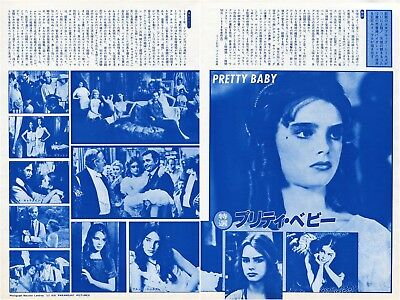 BROOKE SHIELDS Pretty Baby 1978 Japan Picture Clippings 2-Sheets #TI/Q
