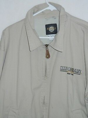 Hard Rock Cafe New York Save The Planet Jacket Size L Vintage full zip sewn