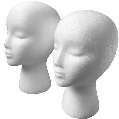 Useful Mannequin Female Foam  Neck Model Hair Hat Wig Glasses Stand Display