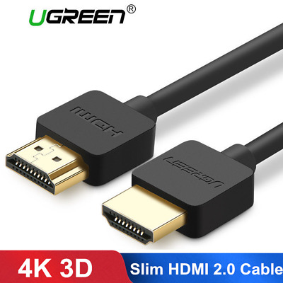 Ugreen Slim HDMI 2.0 Cable HDMI to HDMI Cable 4K 3D for Apple TV PS3 Projector