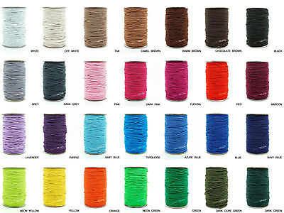 2mm Nylon Coated Round Elastic Cord Rubber Stretch String Jewelry Beading Craft