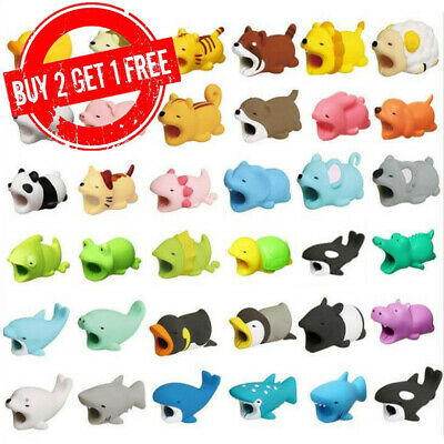 USB Cable Protector Wire Animal Bite Charger Saver For iPhone Cartoon Animal UK