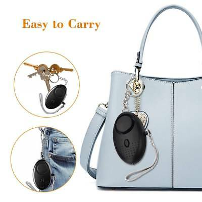 Personal Safety Keychain Alarm Self Defense Emergency Protect LED Security Alarm