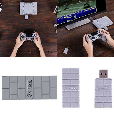8Bitdo USB Wireless Bluetooth Receiver Adapter Converter for PS4 PS3 Wii-Mote PC