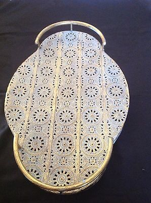 Metal moroccan style serving tray extra large  size