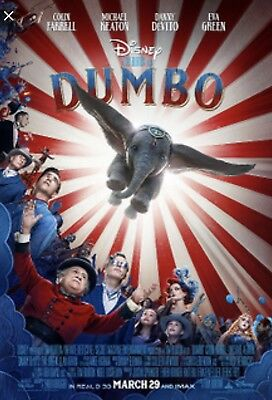 Disney Dumbo Final  27x40 DS Movie Theater Poster NEW