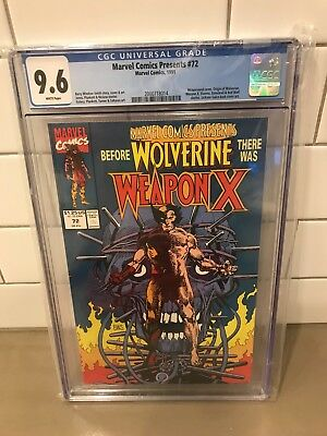 9.6 CGC Marvel Comics Presents #72 - Origin of Wolverine 1st Weapon X