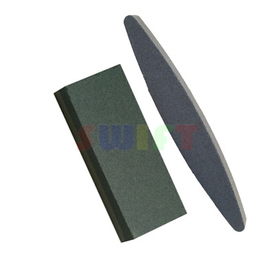 2x Aluminium Oxide Sharpening Stone Dual Grit Hone Knife Blade Sharpener Fishing