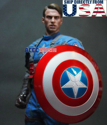 1/6 Captain America Shield 5.0 Metal Material Buckle Hand For Hot Toys U.S.A.