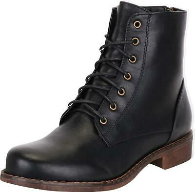 827295d51a8 CAMBRIDGE SELECT WOMEN S Lace-Up Platform Chunky Stacked Heel Ankle ...