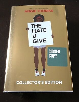 Angie Thomas SIGNED-THE HATE U GIVE, hardcover Book Collector's Edit, AUTOGRAPH