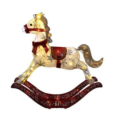 "36"" Lighted Rocking Horse Sculpture Christmas Yard Decor (New in Box)  FREE SHIP"