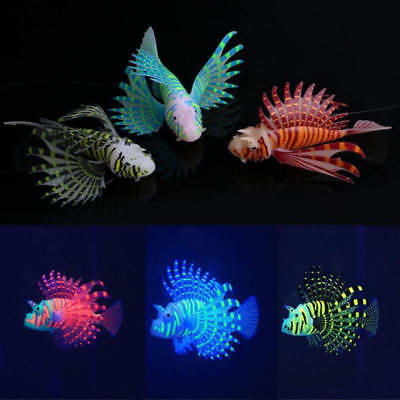 Aquarium Fish Tank Artificial Fake Lionfish Ornaments Decor Purple /Blue//Black