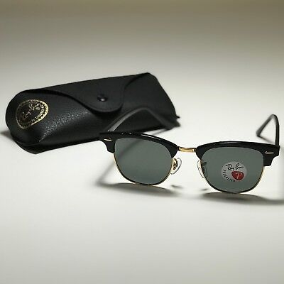 ca321a52403 New Ray-Ban Clubmaster Classic Black RB3016 901 58 49-21 POLARIZED Green