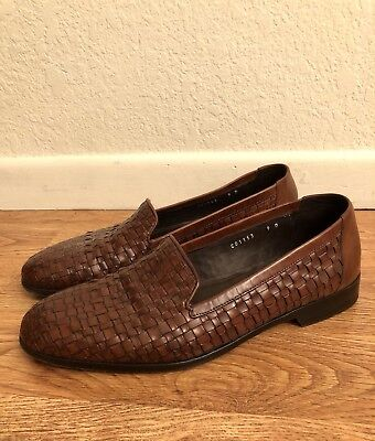 d403cadcb4 BRAGANO COLE HAAN Brown Leather Tassel Made In Italy Loafers Shoes ...