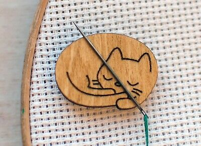 Cat Cross stitch Needle minder Cat Pattern holder embroidery keeper magnetic