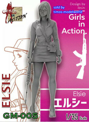 ZLPLA Genuine 1/35 Girls in Action Elsie Resin Figure Assembly Model GM-005