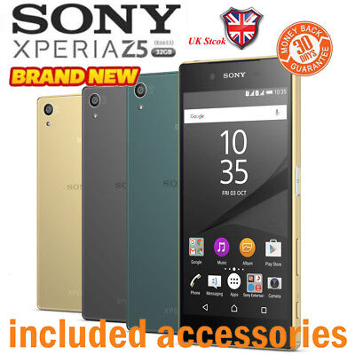 New Factory Unlocked SONY Xperia Z5 E6653 Black White Gold 32GB Android Phone uk