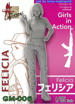 ZLPLA Genuine 1/35 Resin Figure Felicia Girls in Action Assembly Model GM-006