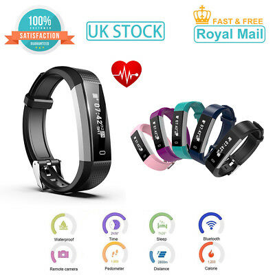 Smart Bluetooth Step Counter Activity Tracker Fitness Pedometer Fit-Bit Bands