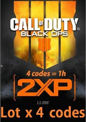 x4 Code 2xp pour call of duty black ops 4  (PC, PS4, XBOX) 1h 2xp