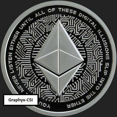 2018 1 oz Proof Crypto 4 - Ethereum - RARE - low COA 136 - SILVER SHIELD - SSG