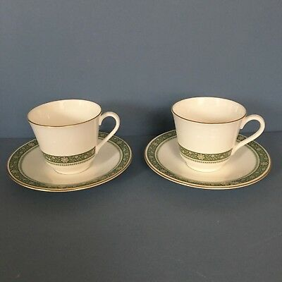 Royal Doulton Rondelay pair of tea cups & saucers
