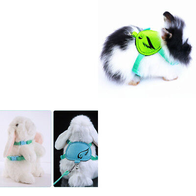 2pcs Breathable Mesh Harness With Leash for Small Pets Guinea Pig Rabbit