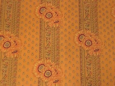 """Vent Du Sud SUNFLOWER French Provencial Tablecloth Made in France 55"""" X 55"""""""