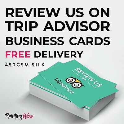 Review us on Trip Advisor Cards - For Hotels, Restaurants, Pubs - FREE DELIVERY