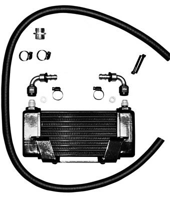 Jagg Oil Cooler 10 Row Oil Black Low Mount #2400 09-13 Harley Touring