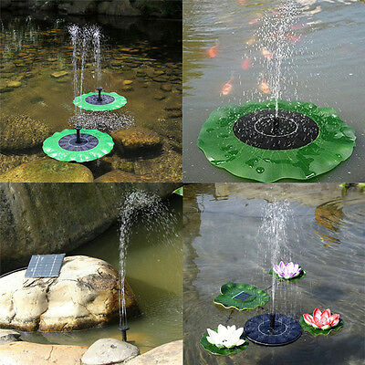 Fountain Submersible Solar Power Floating Water Pump For Pool Pond Garden Plants