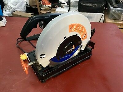 evolution Rage 355mm Cut Off Saw. 110V NEARLY NEW CONDITION