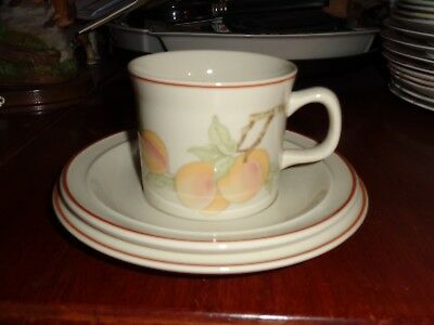 Wedgwood Trio Side Plate Cup And Saucer PEACH Oven To Tableware