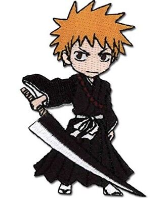 Bleach Patch Anime Ichigo Iron On Embroidered Patch Cosplay Licensed New