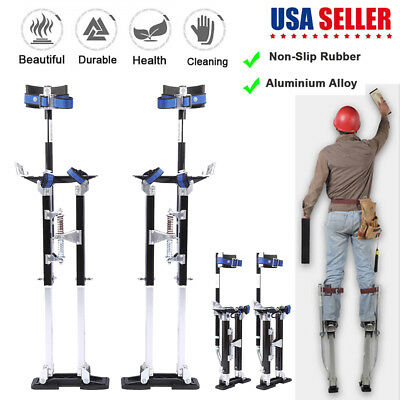 Black Drywall Stilts Aluminum Tool Painters Walking Painting Taping 24-40 inch