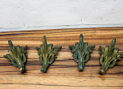 Lot of 8 metal feet for French pendulum clocks to be restored