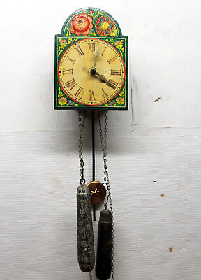 Antique Wall Clock Schwarzwald to be restored or for spare parts