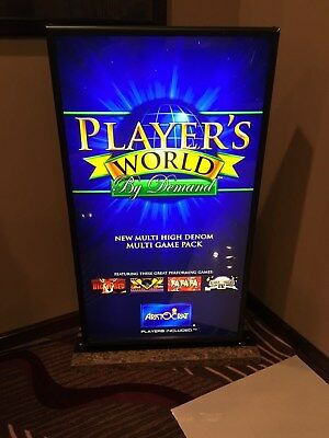 Rare Aristocrat Player's World Lighted Casino Sign