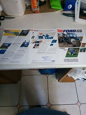 ford 4110 4610 sales brochure 6 page